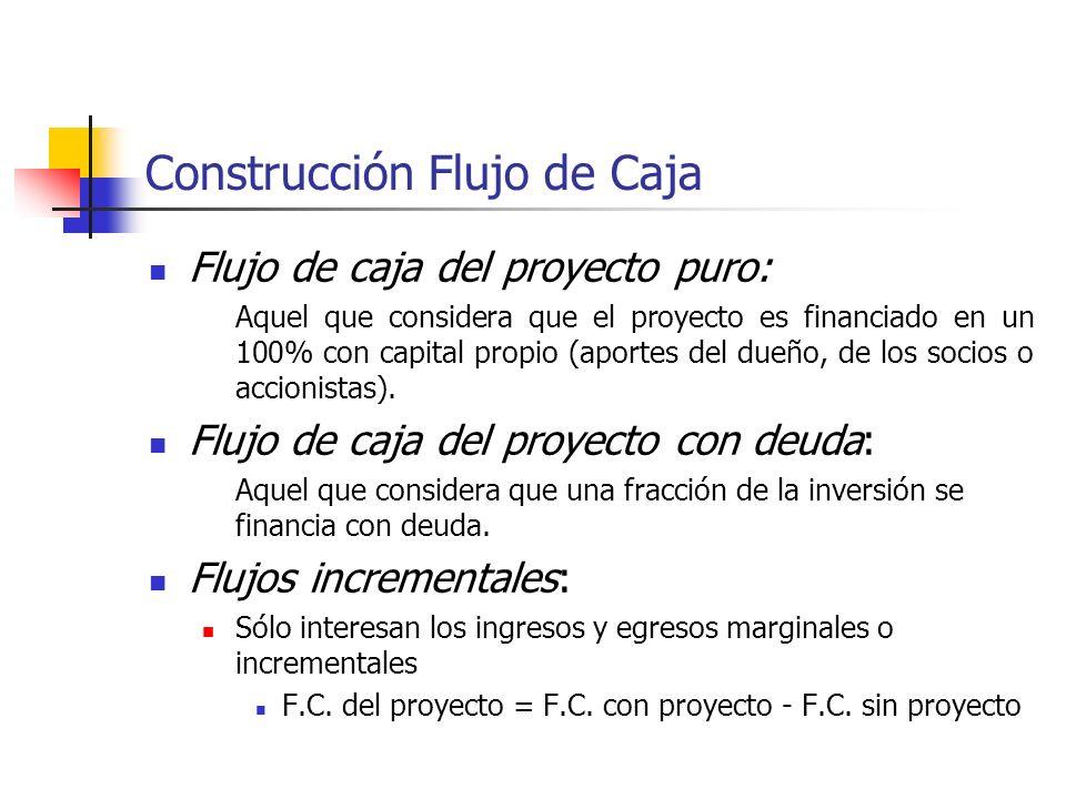 Construcción Flujo de Caja