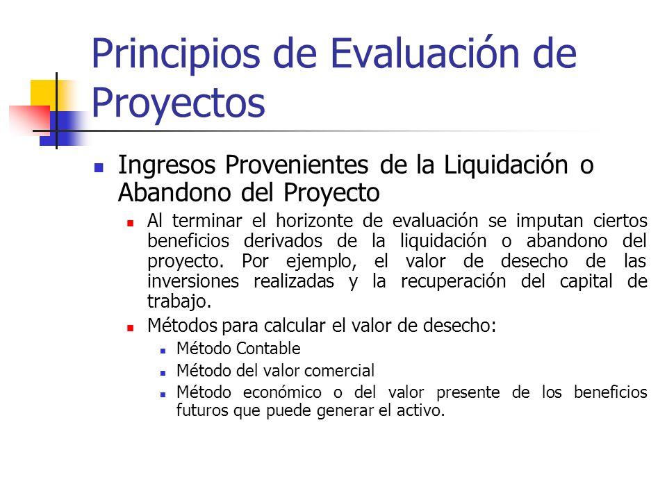 Principios de Evaluación de Proyectos