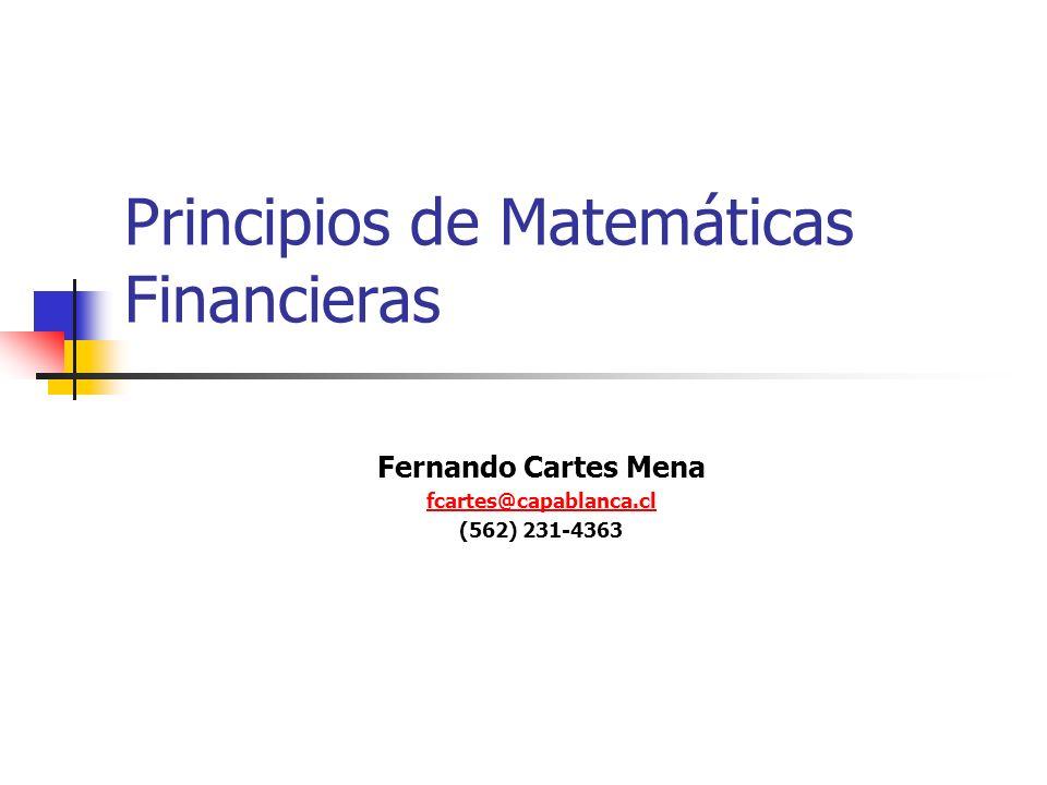 Principios de Matemáticas Financieras