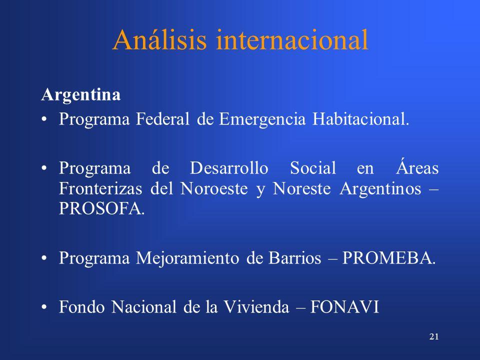 Análisis internacional