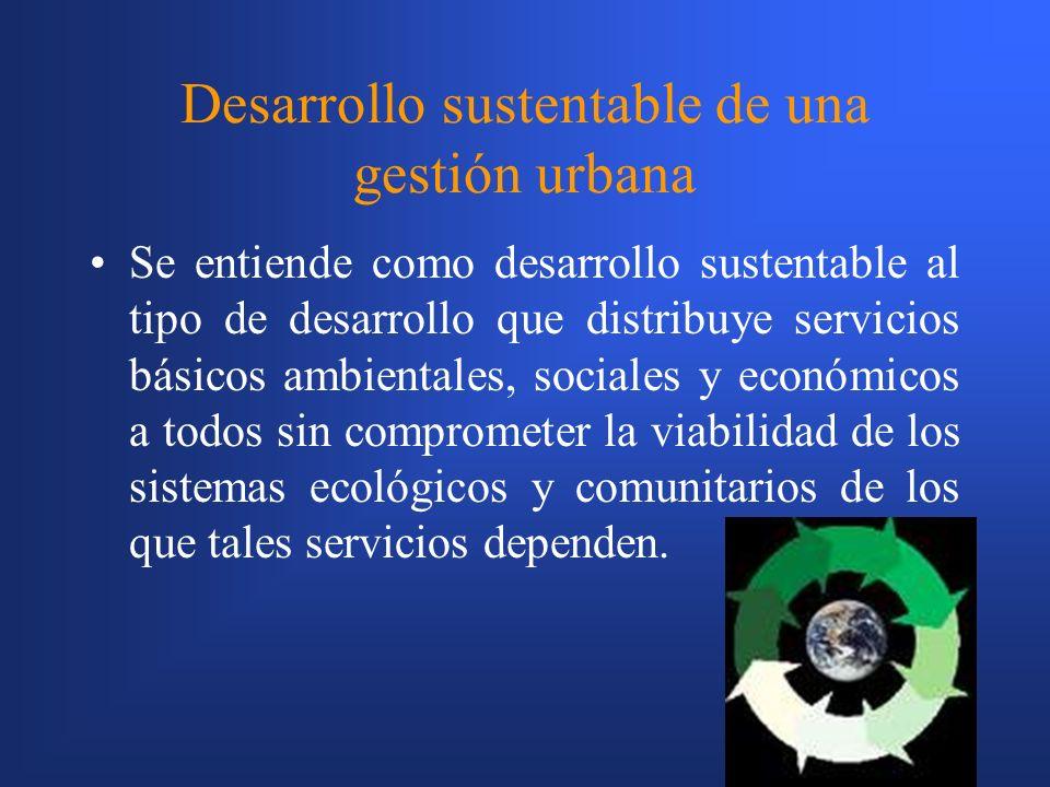 Desarrollo sustentable de una gestión urbana