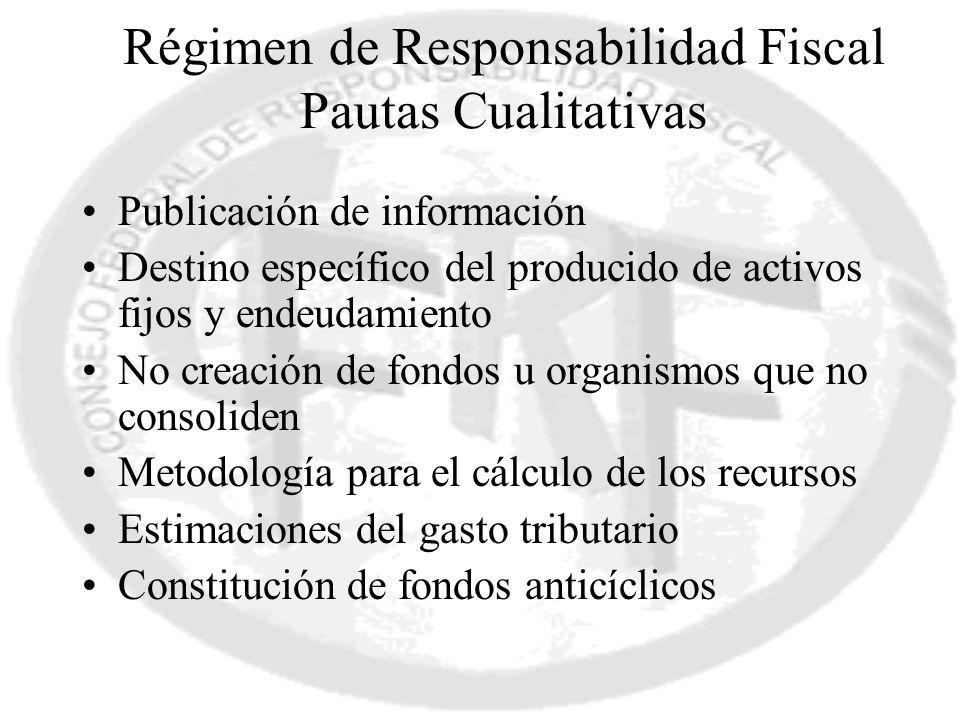 Régimen de Responsabilidad Fiscal Pautas Cualitativas