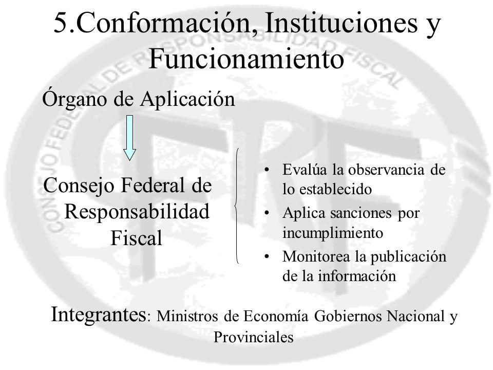5.Conformación, Instituciones y Funcionamiento