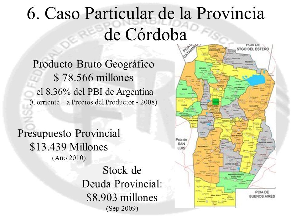 6. Caso Particular de la Provincia de Córdoba