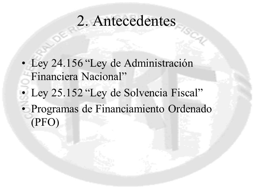 2. Antecedentes Ley 24.156 Ley de Administración Financiera Nacional