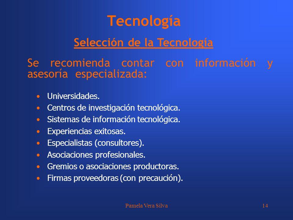 Tecnología Selección de la Tecnología