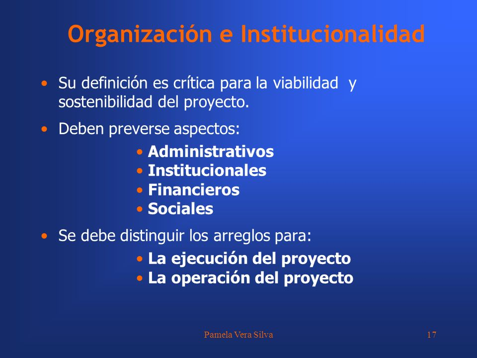 Organización e Institucionalidad