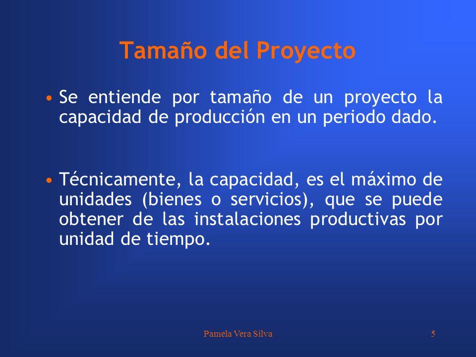 Tamaño del Proyecto Se entiende por tamaño de un proyecto la capacidad de producción en un periodo dado.