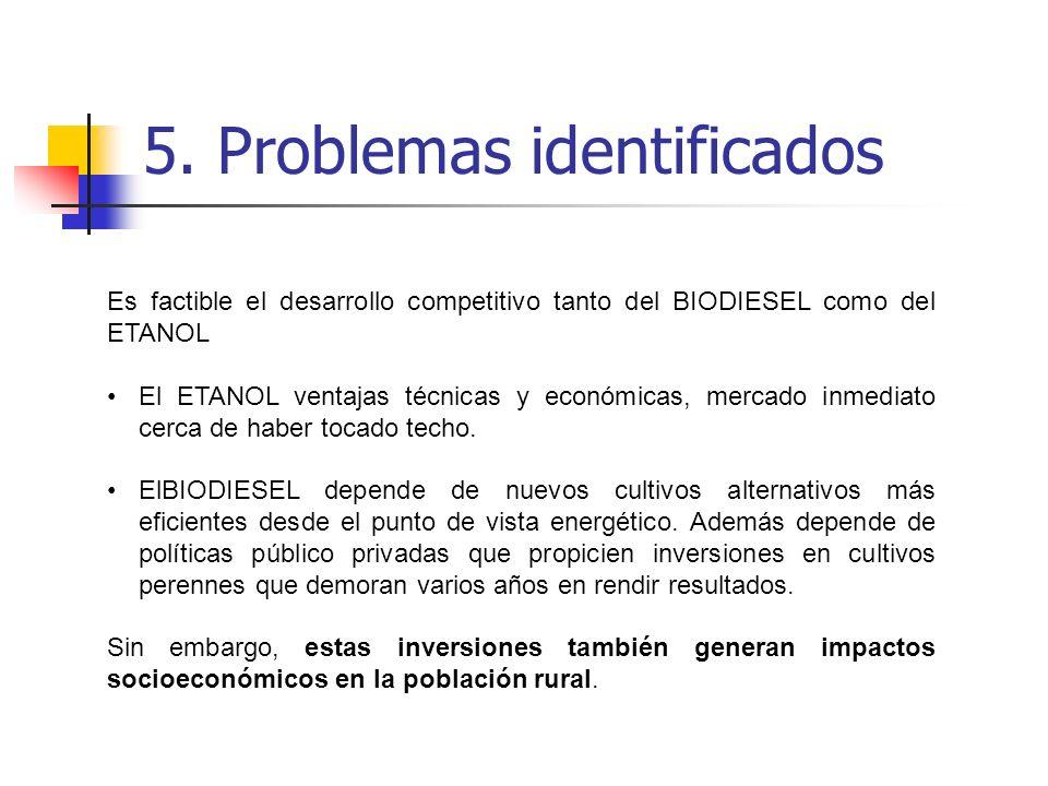 5. Problemas identificados
