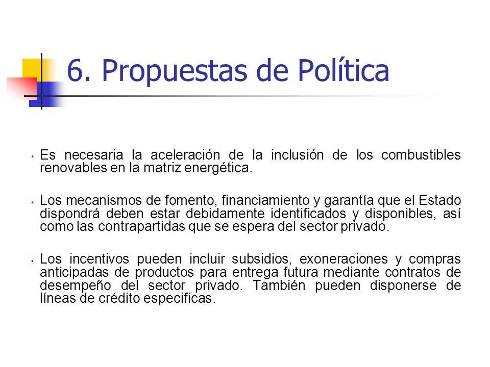 6. Propuestas de Política