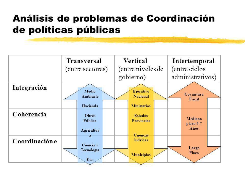 Análisis de problemas de Coordinación de políticas públicas