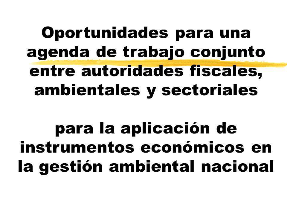 Oportunidades para una agenda de trabajo conjunto entre autoridades fiscales, ambientales y sectoriales