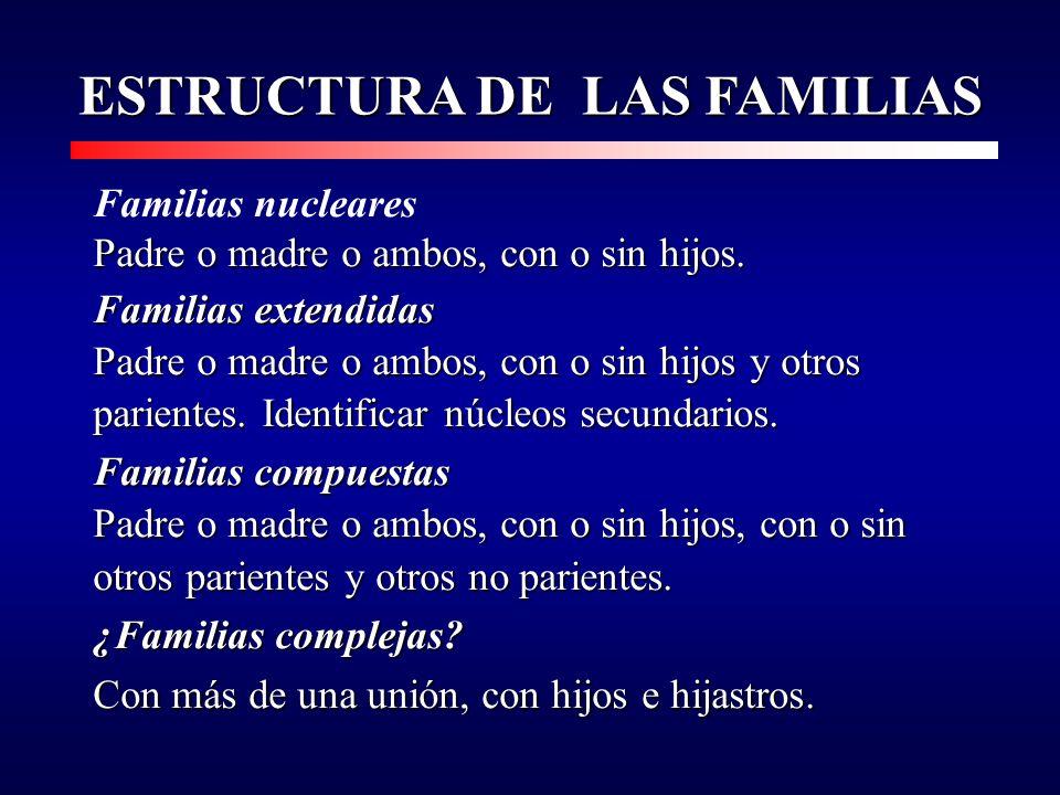ESTRUCTURA DE LAS FAMILIAS