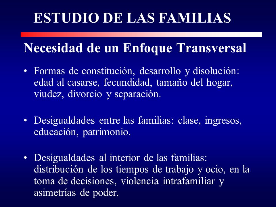 ESTUDIO DE LAS FAMILIAS