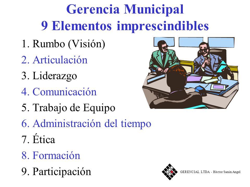 Gerencia Municipal 9 Elementos imprescindibles