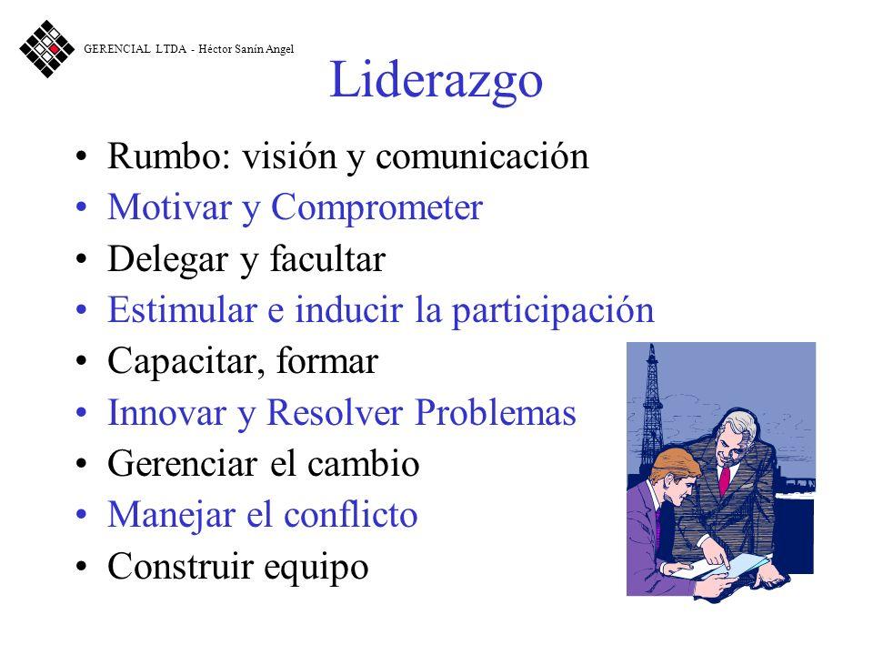 Liderazgo Rumbo: visión y comunicación Motivar y Comprometer