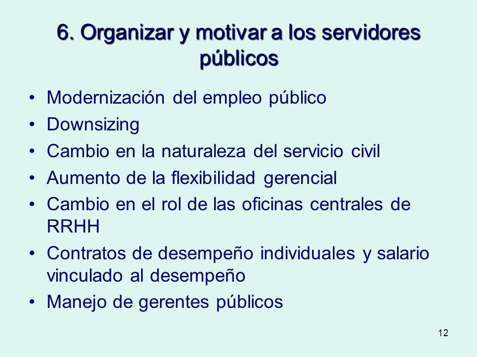 6. Organizar y motivar a los servidores públicos