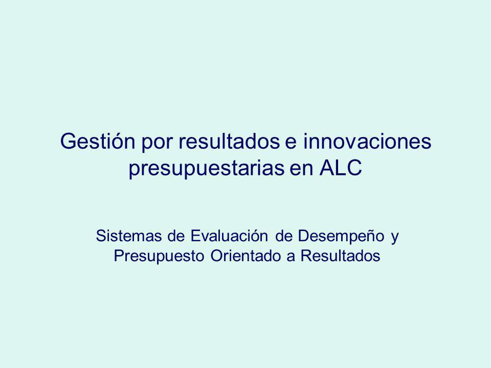 Gestión por resultados e innovaciones presupuestarias en ALC