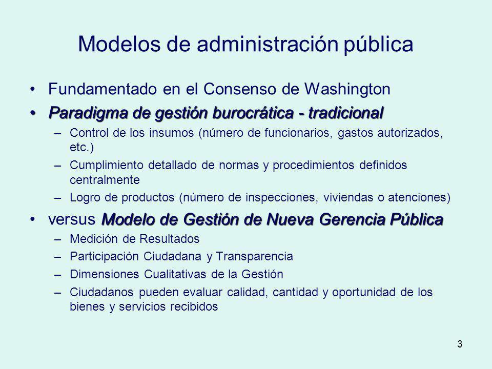 Modelos de administración pública