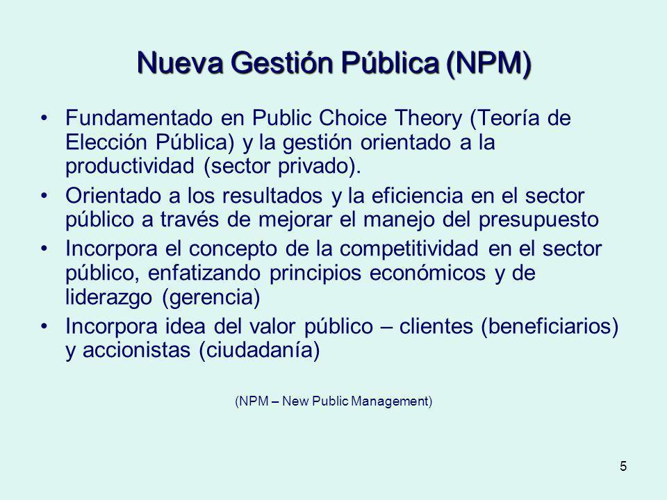 Nueva Gestión Pública (NPM)