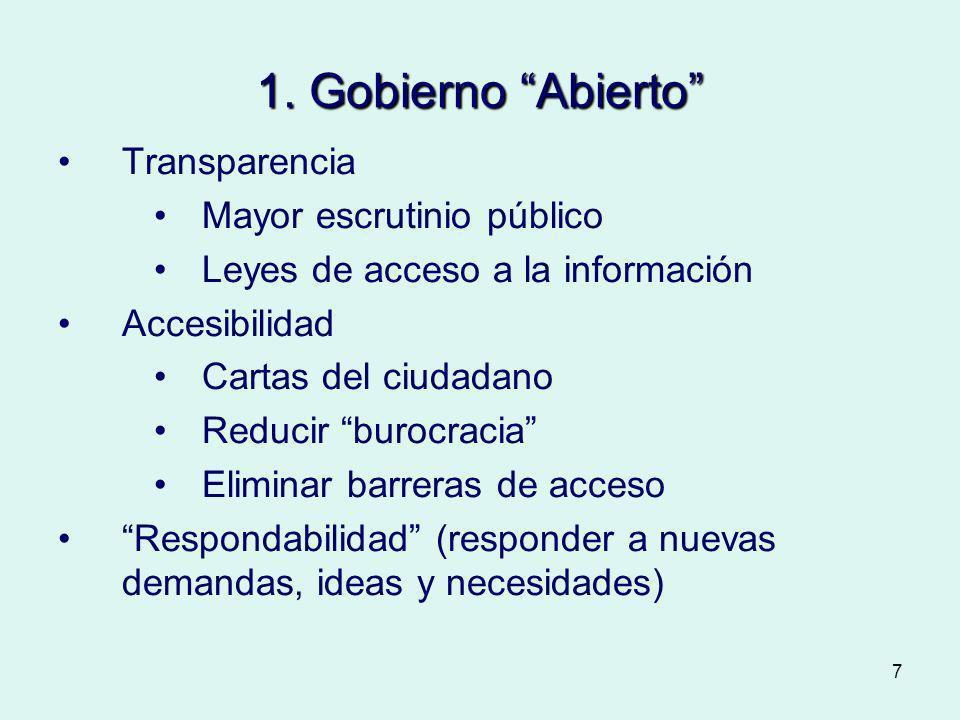 1. Gobierno Abierto Transparencia Mayor escrutinio público