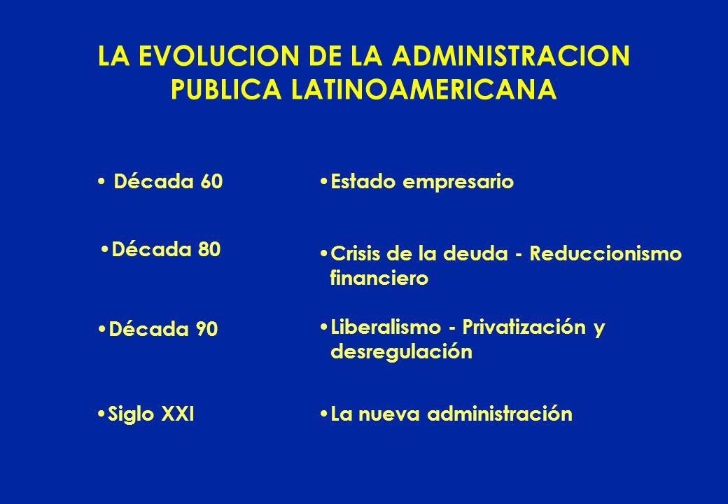 LA EVOLUCION DE LA ADMINISTRACION PUBLICA LATINOAMERICANA