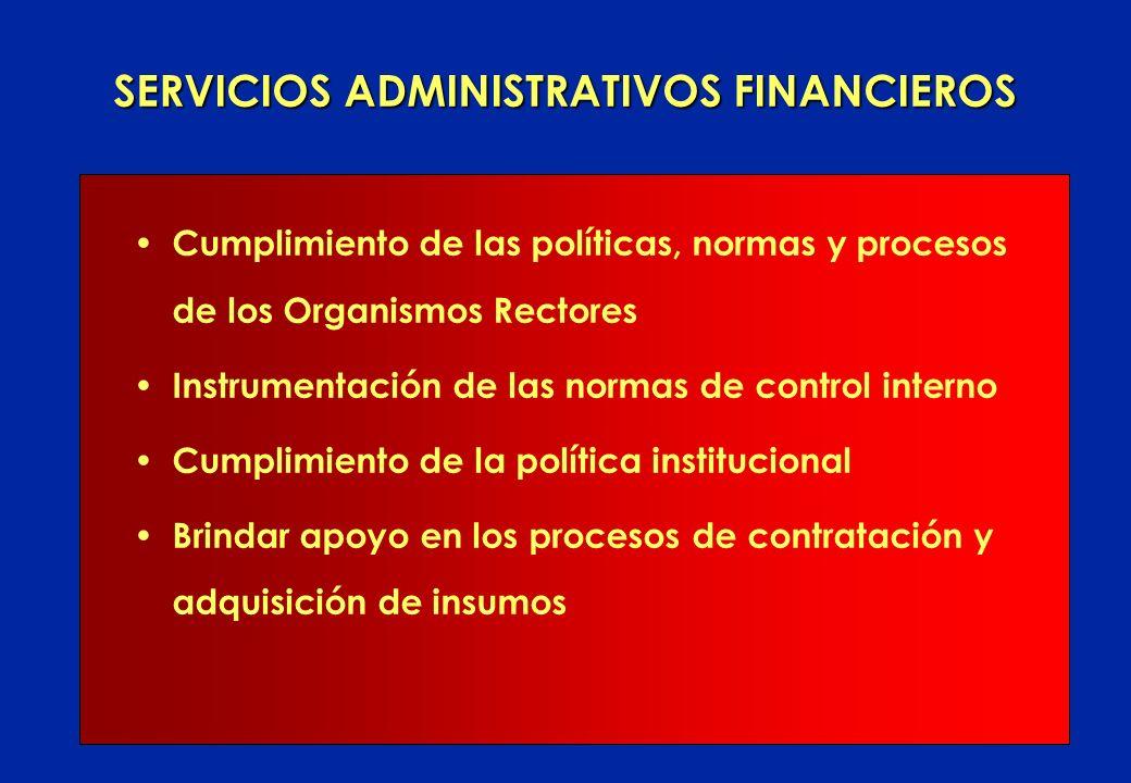 SERVICIOS ADMINISTRATIVOS FINANCIEROS