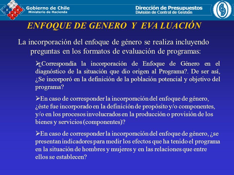 ENFOQUE DE GENERO Y EVA LUACIÓN