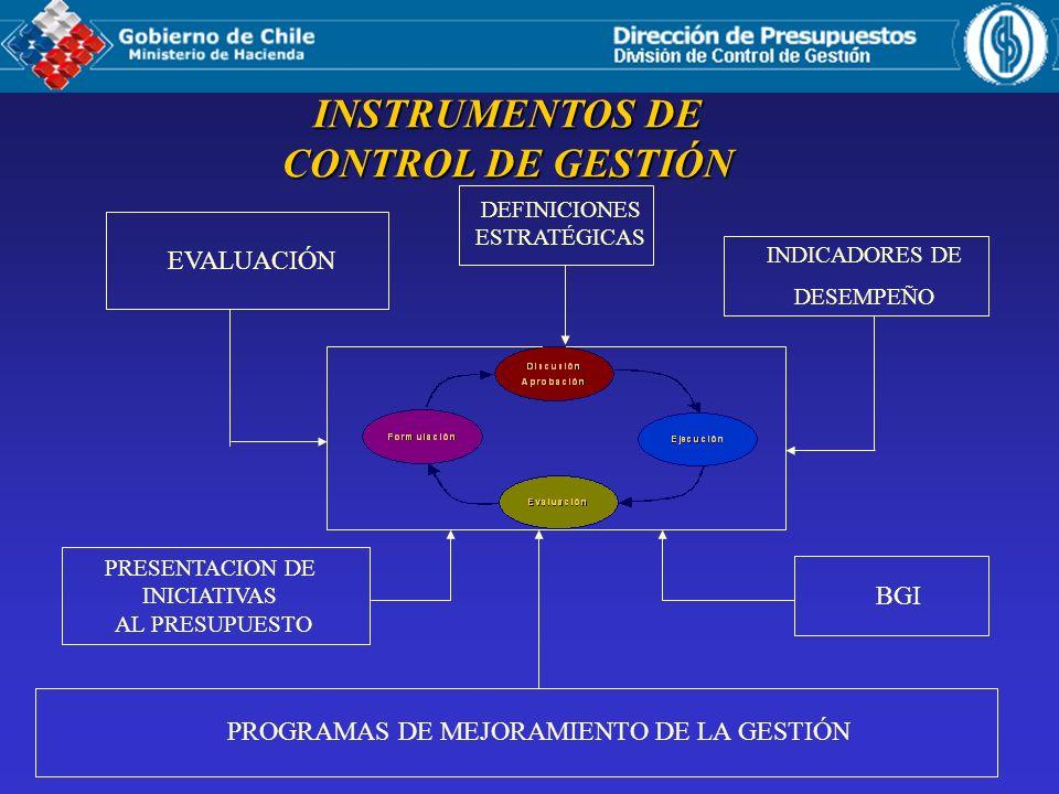 INSTRUMENTOS DE CONTROL DE GESTIÓN