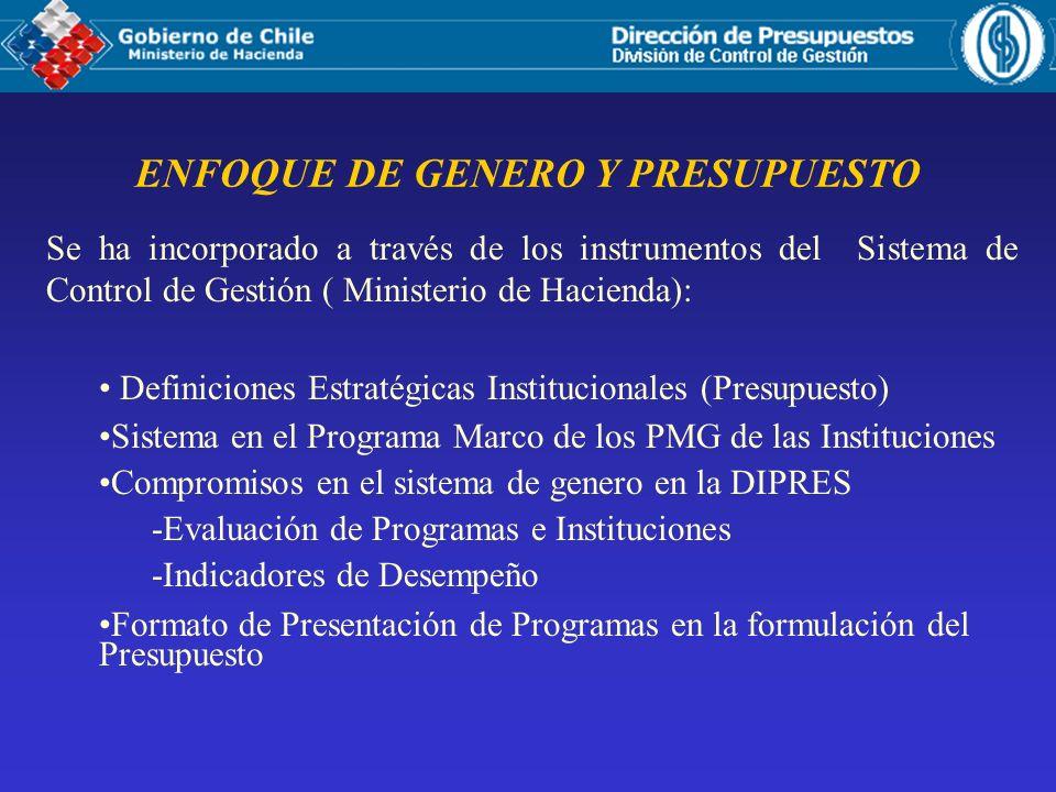ENFOQUE DE GENERO Y PRESUPUESTO