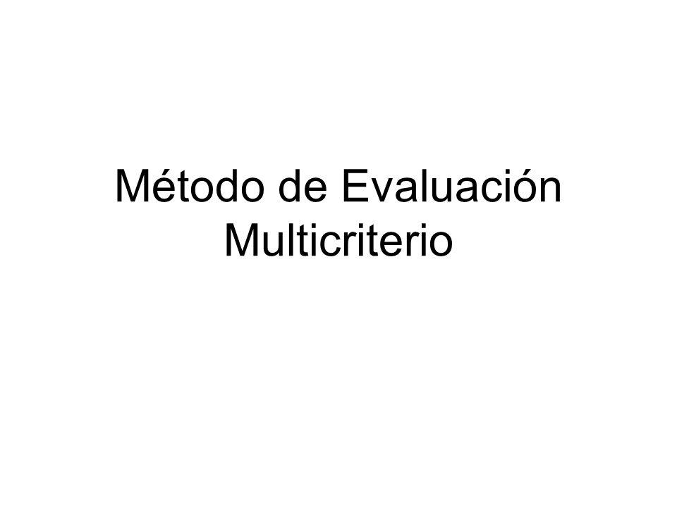 Método de Evaluación Multicriterio