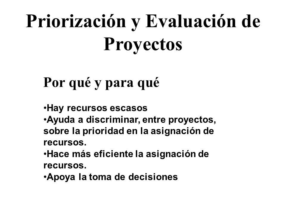 Priorización y Evaluación de Proyectos