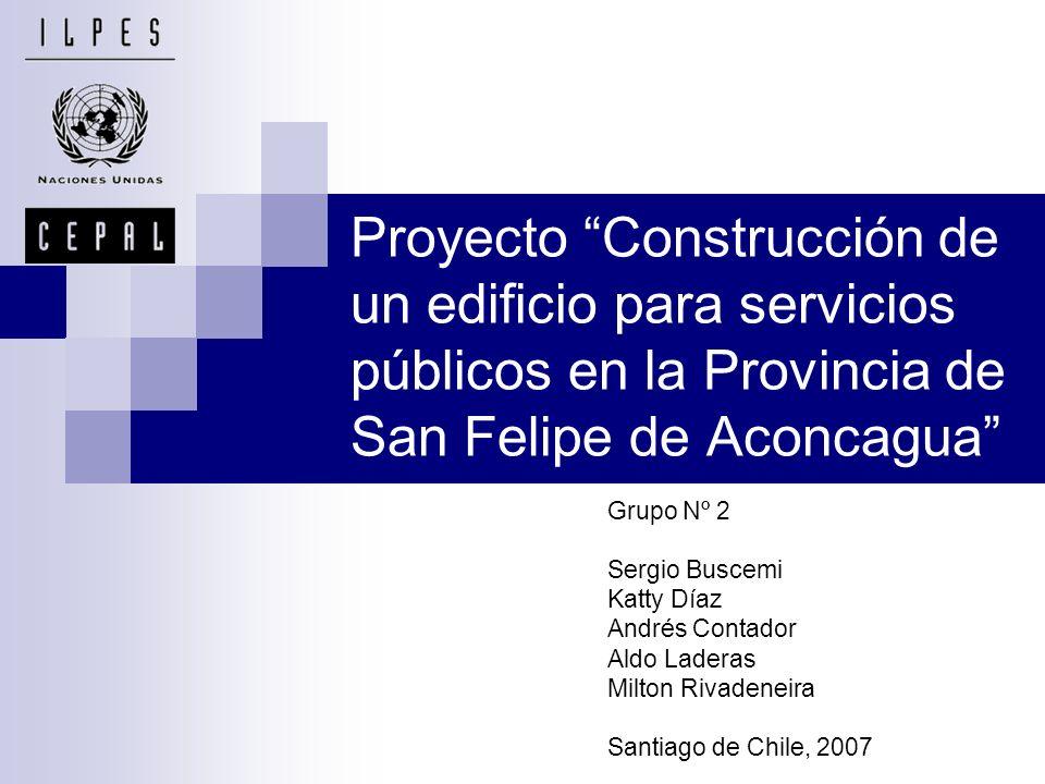 Proyecto Construcción de un edificio para servicios públicos en la Provincia de San Felipe de Aconcagua