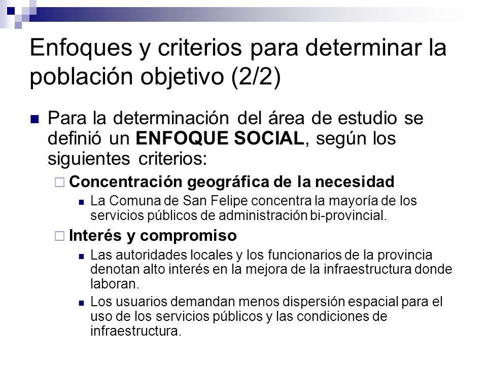 Enfoques y criterios para determinar la población objetivo (2/2)
