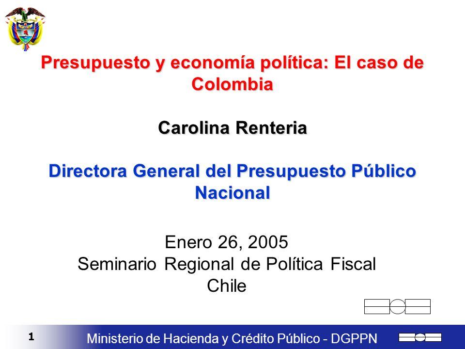 Enero 26, 2005 Seminario Regional de Política Fiscal Chile
