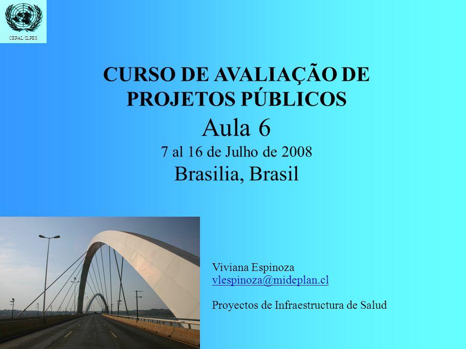 Aula 6 CURSO DE AVALIAÇÃO DE PROJETOS PÚBLICOS Brasilia, Brasil