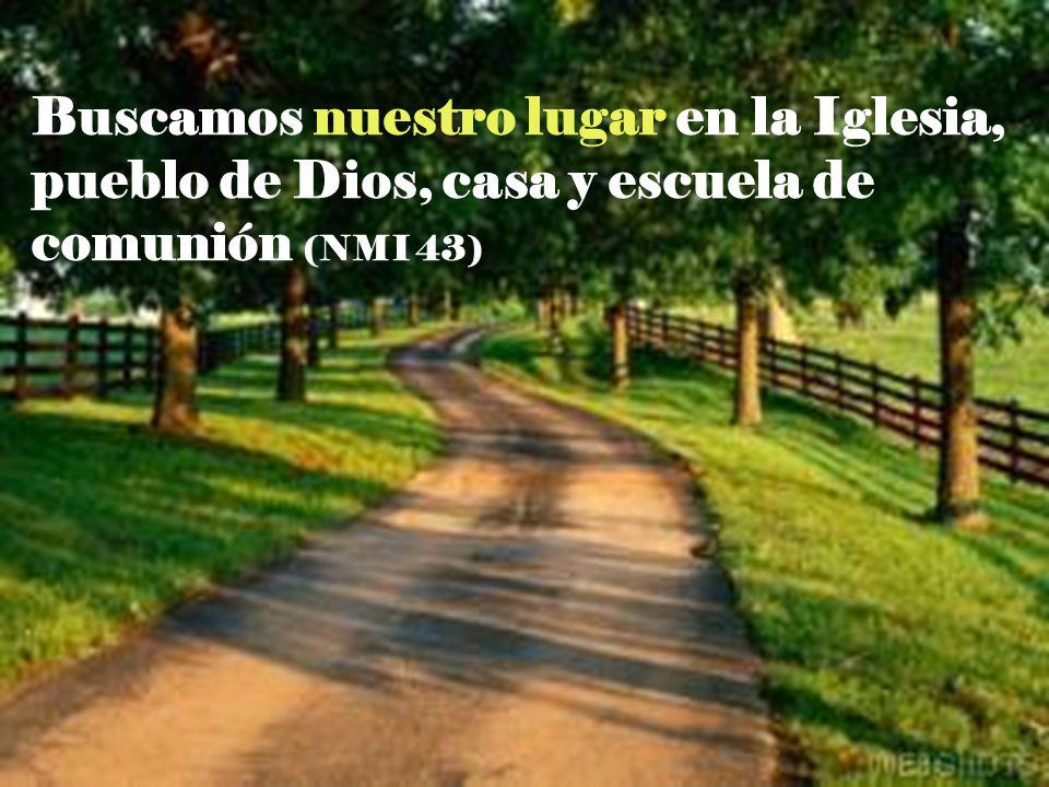 Buscamos nuestro lugar en la Iglesia, pueblo de Dios, casa y escuela de comunión (NMI 43)