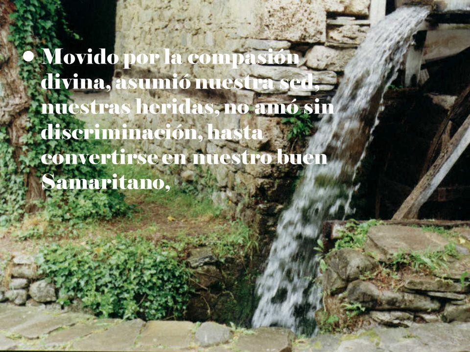 Movido por la compasión divina, asumió nuestra sed, nuestras heridas, no amó sin discriminación, hasta convertirse en nuestro buen Samaritano,