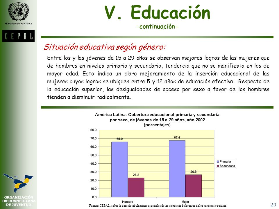 V. Educación -continuación-