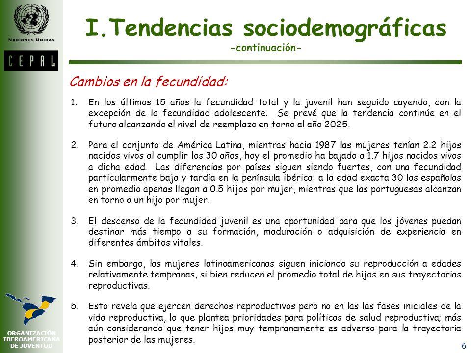 I.Tendencias sociodemográficas -continuación-