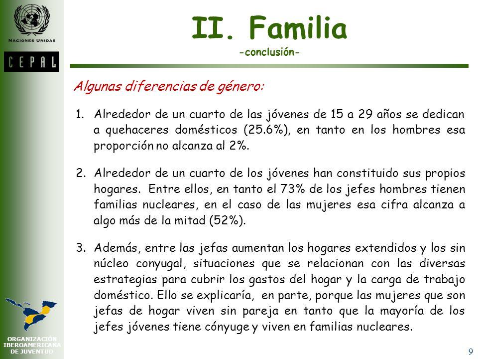 II. Familia -conclusión-