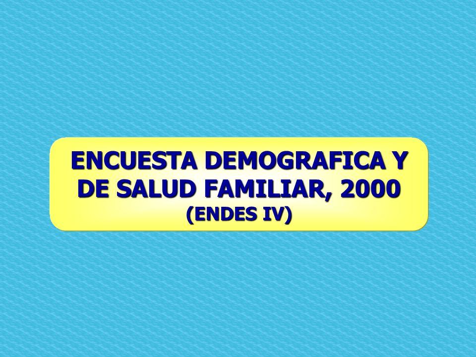 ENCUESTA DEMOGRAFICA Y DE SALUD FAMILIAR, 2000