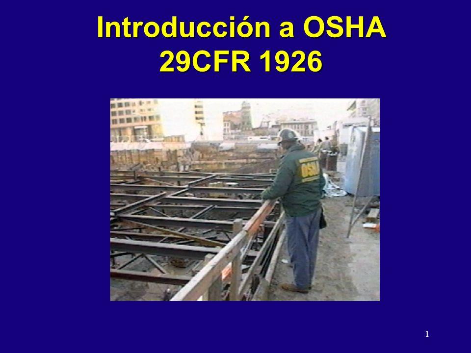 Introducción a OSHA 29CFR 1926