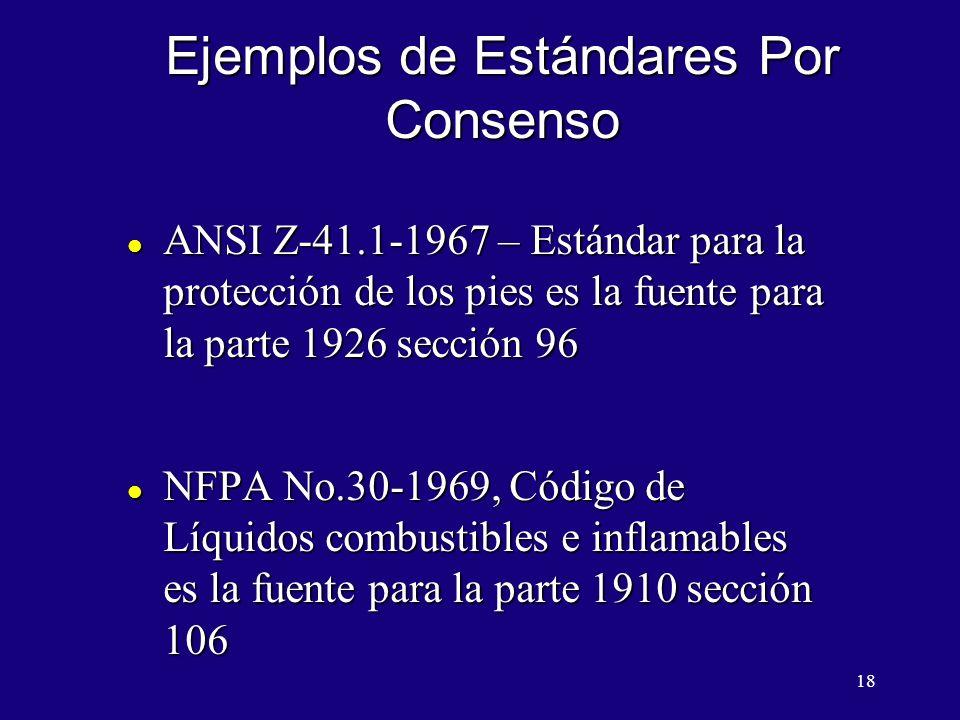 Ejemplos de Estándares Por Consenso