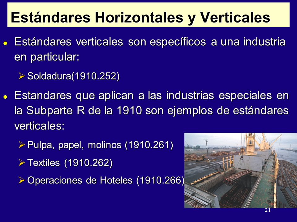 Estándares Horizontales y Verticales
