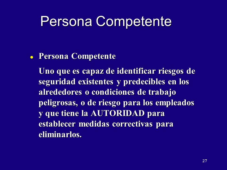 Persona Competente Persona Competente