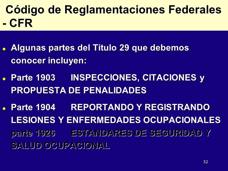 Código de Reglamentaciones Federales - CFR