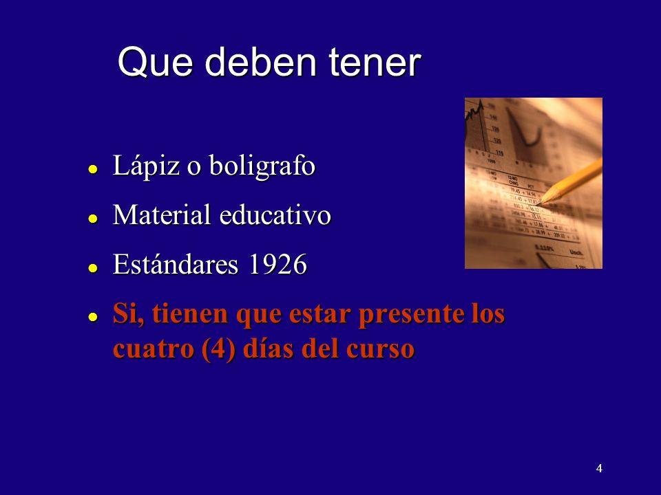 Que deben tener Lápiz o boligrafo Material educativo Estándares 1926