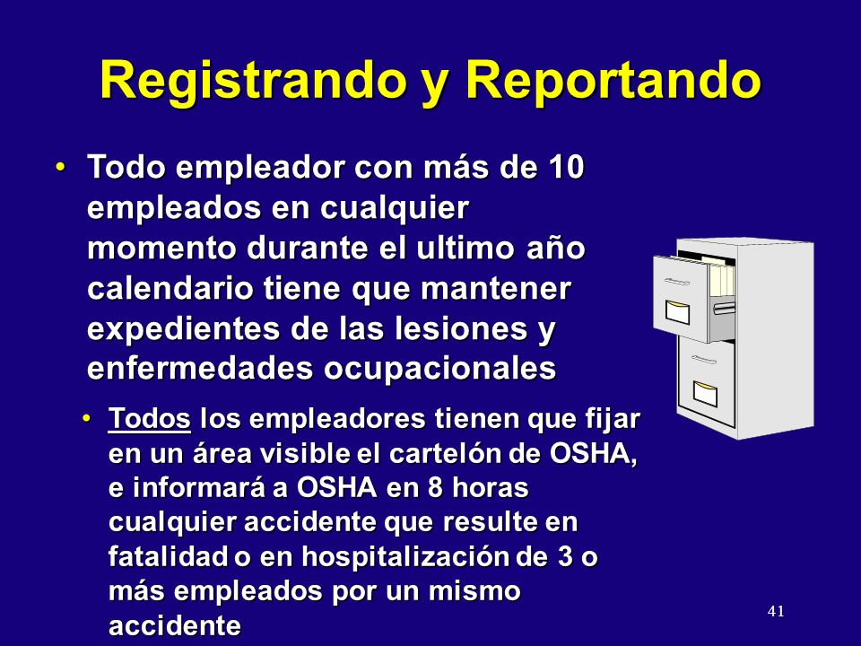 Registrando y Reportando