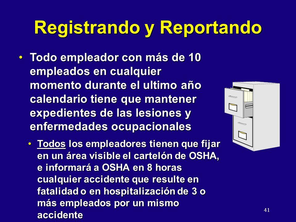 Registrando y Reportando